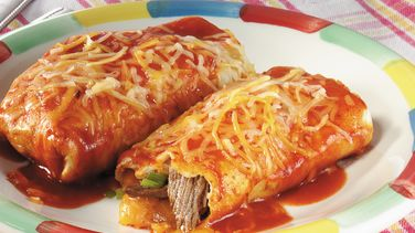 Baked Steak Burritos