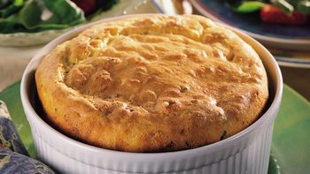 Cheddary Cheese and Sun-Dried Tomato Souffle