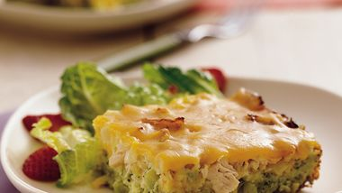 Impossibly Easy Chicken and Broccoli Pie (Crowd Size)