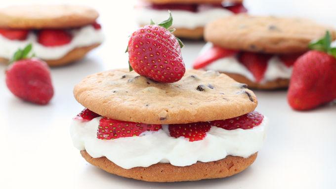 Chocolate Chip-Strawberry Shortcakes