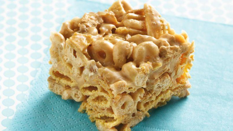 Barras de cereal con mantequilla de maní