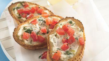 Garlic Cream Cheese Crostini
