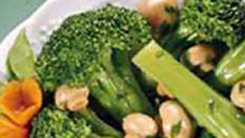 Broccoli with Basil Mushrooms