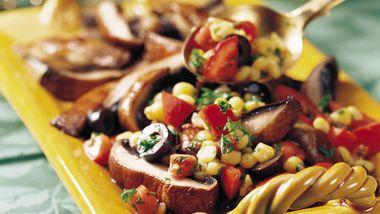 Portabellas with Corn Salsa