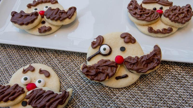 Movember Mustache Cookies