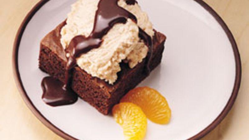 Cinnamon Brownie Sundaes