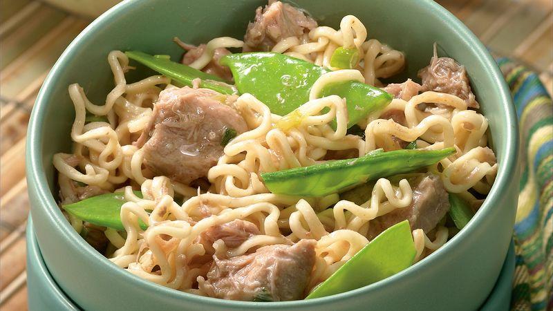 Slow-Cooker Gingered Pork and Ramen Noodles