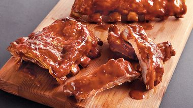 Slow-Cooker Orange Molasses BBQ Ribs