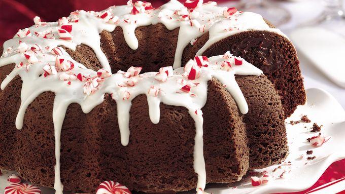 Fudgy Peppermint Truffle Chocolate Cake