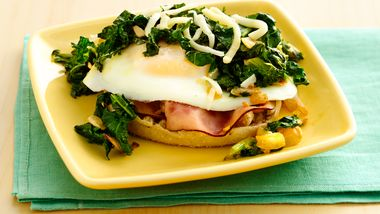 Eggs Florentine with Kale