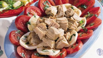 Tuna, Tomato and Mozzarella Salad