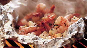 Grilled Herbed Seafood Foil Packs