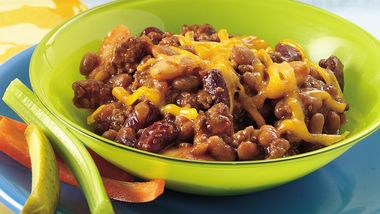 Slow-Cooker Favorite Ground Beef and Beans