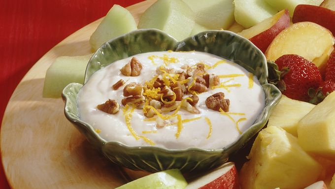 Orange Yogurt Fruit Dip