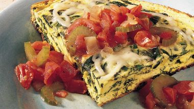 Spinach Frittata with Creole Sauce