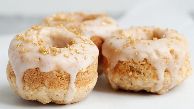 Baked Apple Spice Doughnuts with Cinnamon Glaze