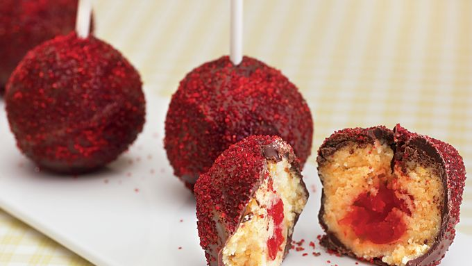 Chocolate Covered Cherry Pops