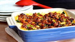 Betty Crocker™ Mashed Potatoes, Chorizo and Poblano Pepper Casserole