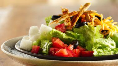 Santa Fe Salad with Tortilla Straws
