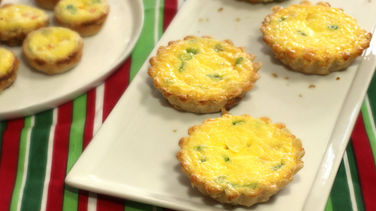 Mini Quiches de Camarón y Queso