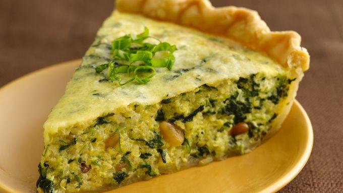 Pesto-Quinoa-Spinach Quiche recipe - from Tablespoon!