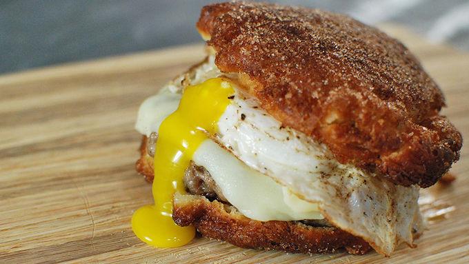 Fritter Breakfast Sandwich