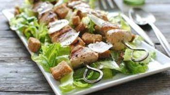 Grilled Chicken Caesar Kebab Salads