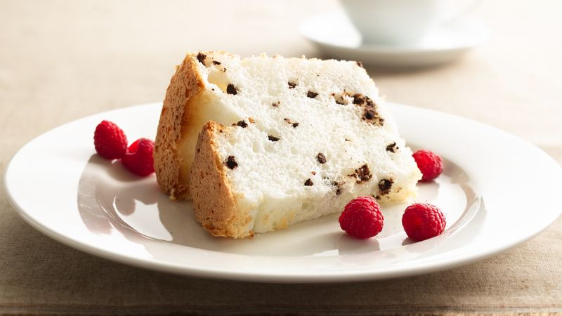Low Fat Cake Mix Recipes: Low-Fat Chocolate Chip Angel Food Cake Recipe