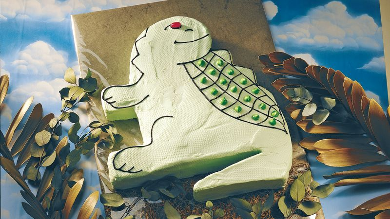 Friendly Dinosaur Cake
