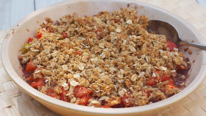 Tomato Corn Crumble