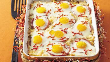 Baked Eyeball Eggs