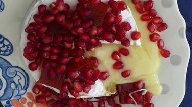 Baked Brie with Pomegranate and Guava Paste