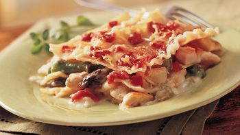 Golden-Crusted Chicken Asparagus Lasagna