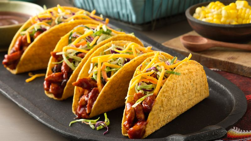 Barbecue Chicken Ten Minute Bold Ranch Tacos
