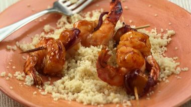 Sweet Apricot BBQ Shrimp Kabobs