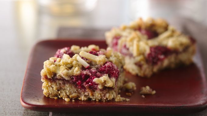 Chewy Raspberry Almond Bars