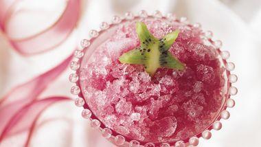 Cranberry-Herbal Tea Granita
