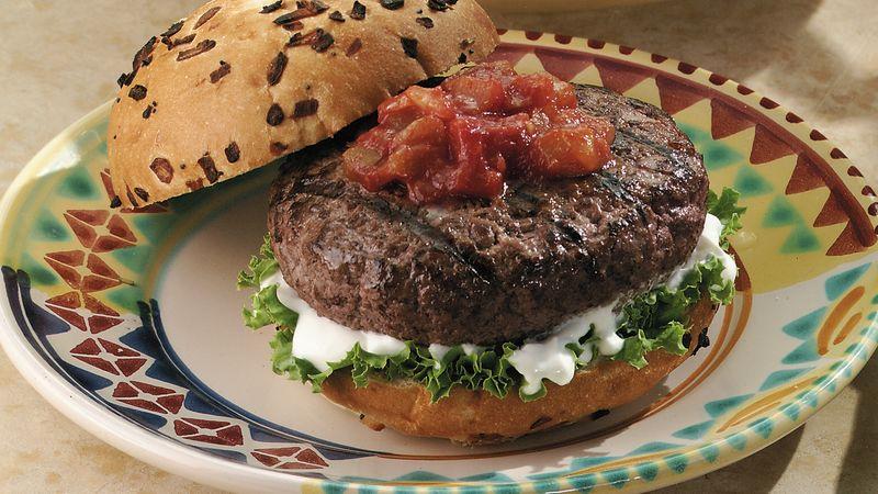 Grilled Tex-Mex Burgers