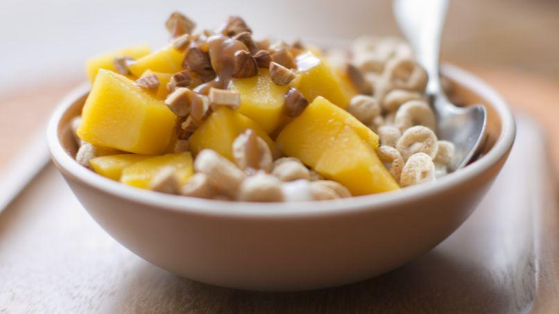 Cheerios® Saladitos con Mango y Caramelo