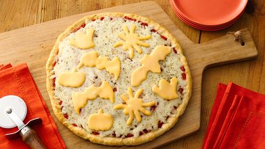 Halloween Cheese Pizza