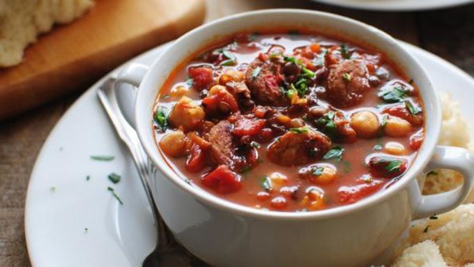Chicken Sausage and Lentil Soup