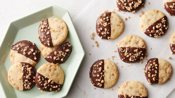 Chocolate-Dipped Toffee Butter Cookies