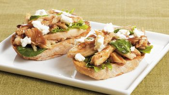 Open-Face Chicken Crostini