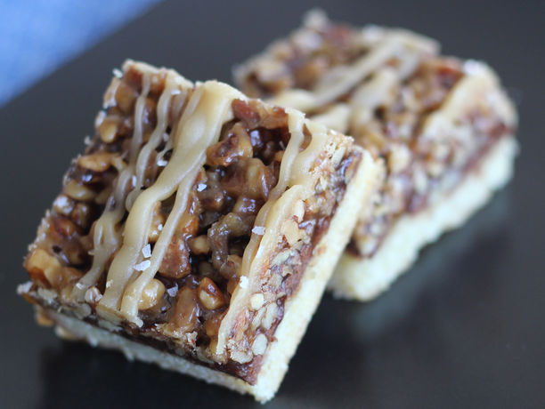 Salted Caramel Pecan Turtle Bars