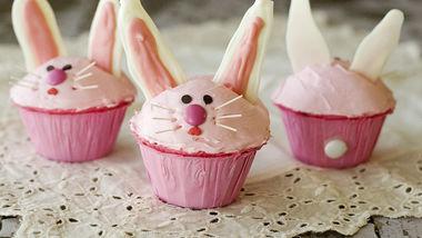 Pink Bunny Cupcakes
