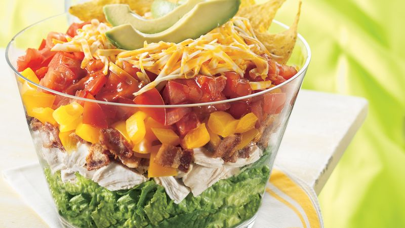 Chicken BLT Taco Salad