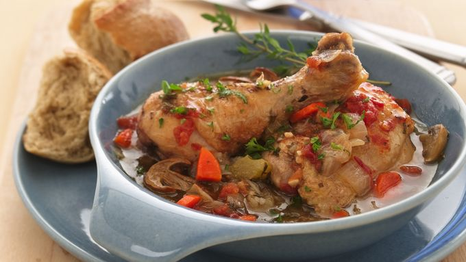 Braised Chicken with Wild Mushrooms and Thyme recipe - from Tablespoon ...