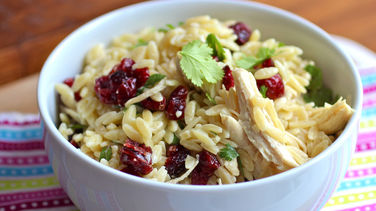 Orzo Salad with Chicken and Dried Cranberries