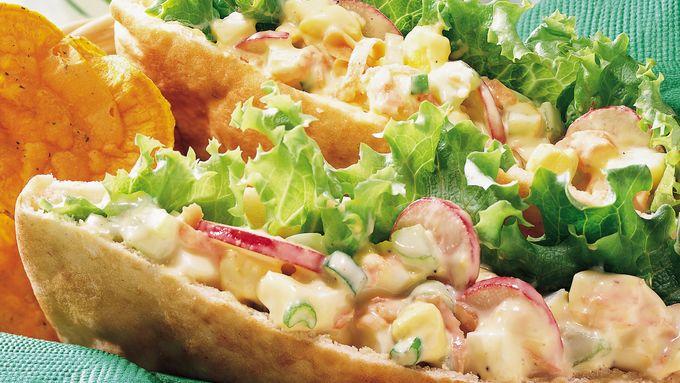 Garden Veggie-Egg Salad Pitas
