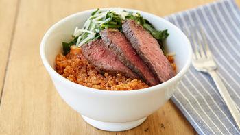 Steak and Chard Quinoa Bowls